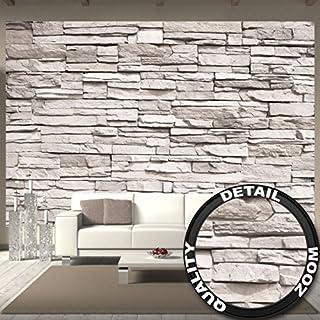 Great Art Fototapete White Stonewall Wandbild Dekoration Steintapete 3d  Stein Mauer Wandverkleidung Steinoptik Weiß Steinwand