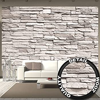 great art fototapete white stonewall wandbild dekoration steintapete 3d stein mauer. Black Bedroom Furniture Sets. Home Design Ideas