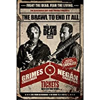 Grupo Erik Editores the Walking Dead Fight Poster, Madera, Varios, 65 x 3.5 x 3.5 cm
