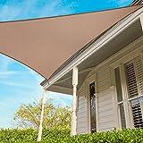 Sonnensegel für Außen dreieckig 3,6mx3.6m, atmungsaktiv, atmungsaktiv, recycelbar und Garantie 5Jahre–Farbe beige