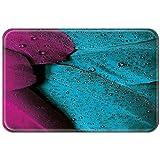Violetpos Fußmatte 45 x 75 cm Feder Blau Lila Fußmatten / Sauberlaufmatte für Innen & Außen