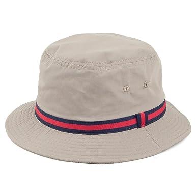 632168b2265 Dorfman Pacific Water Repellent Striped Bucket Hat  Amazon.co.uk ...