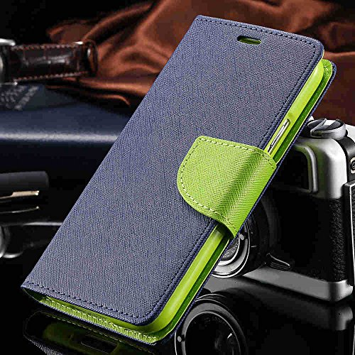 Mercury Goospery Fancy Diary Card Wallet Flip Case Back Cover for Sony Xperia M Experia Dual - Green Blue  available at amazon for Rs.229