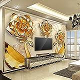 Yosot Personnalisé Fond D'Écran Grand Hd 3D Soft Pack De Luxe Swan Fleur Bijoux Tv...