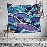 Zebuakuade Wandteppich Polyester Welle Wand Stoff Innenwand Flagge Strand Matte Tisch Kreuz Stoff Poster Hauptdekorationen für Schlafzimmer (Color : A16-5, Size : 150 * 130cm)