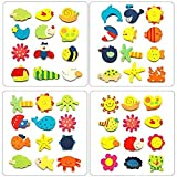 Juego de 12 imanes para nevera de madera a todo color con diseños de animales aleatorios de Sungpunet