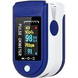 Doneioe Saturazione di Ossigeno nel Sangue e rilevamento della frequenza cardiaca, misurazione Rapida di 10 Secondi e Funzion