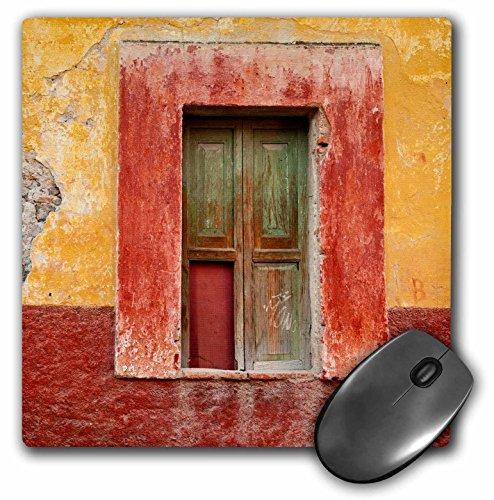 3drose Mexiko, San Miguel de Allende Fenster in bunten Wand-Mauspad