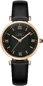 Ibso donne moda semplice orologio ultra-sottile retro cinturino in pelle al quarzo analogico orologio da polso da donna