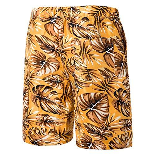 Nach Hause Hose Jogginghose Sommer neue Art Art und Weise der bequemen kurzen Männer druckte Strand Hosen und Kurzschlüsse Gelb - 1910 Herren Kostüm