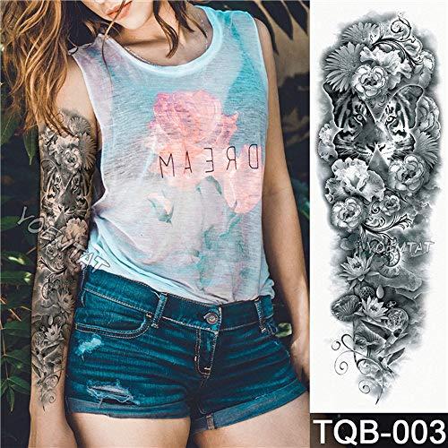 handaxian 3pcs-tatuaggio completo del braccio del fiore dell'adesivo del tatuaggio dell'occhio di colore dell'occhio della rosa dell'occhio del tatuaggio della pittura 3pcs-21
