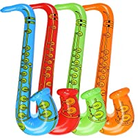 Newin Star 1Pcs Inflatables Saxophone Balloons Musical Instruments Accessories For Party Supplies Party Favors Balloons Random Color