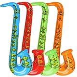 Rocita 1luftobjekte Saxophon Luftballons Party Supplies Musikinstrumente Zubehör Spielzeug für Kleine Geschenke