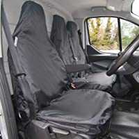 04-12 The Urban Company Seat Covers Front Black Waterproof to fit Volvo V50 Estate
