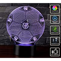 3D Lámpara de Escritorio Mesa NHSUNRAY 7 cambiar el color botón táctil de escritorio del USB