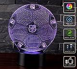 3D Lámpara de Escritorio Mesa NHSUNRAY 7 cambiar el color botón táctil de escritorio del USB LED lámpara de tabla ligera Decoración para el Hogar Decoración para Niños Mejor Regalo (FC...