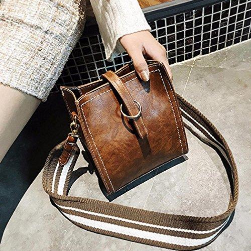 Tasche Damen Umhängetasche, Huihong Womens cute Shopper Tote elagant PU Leder Messenger Tasche Tote Mini Crossbody Tasche Kaffee