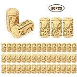 Decdeal 50pcs Bouchons Liege Lot 40 * 21mm Bouchons de Vin Neuf Utiliser pour Le Bricolage Décoration Bouchons en Liège Naturel Bouchons pour Vin
