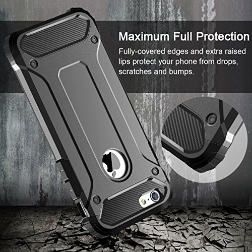 Cover iPhone 6S, Custodia iPhone 6S, Coolden® Hybrid Dual Layer Armor Protezione Soft TPU Bumper PC Rigida Protettiva Case Cover Custodia per iPhone 6 / 6S - Heavy Duty Custodia (Grigio) Grigio
