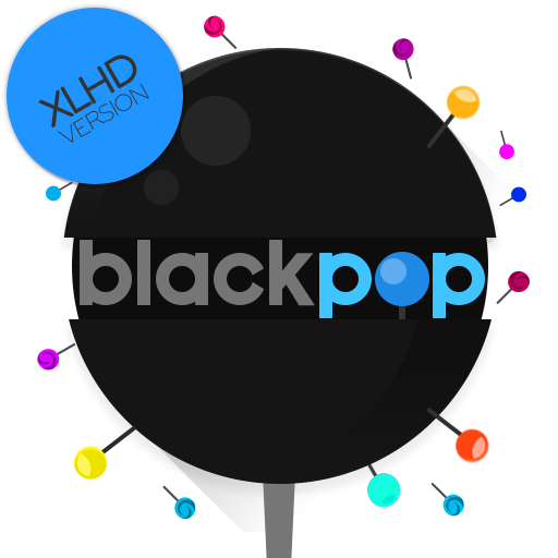 BlackPOP XLHD - Icon Pack (Uncompressed)