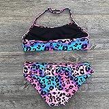 LSAltd Sommer Badebekleidung für Kinder, Kinder Baby Mädchen Leopard Geraffte Bikini Set Kinder Mädchen Neckholder Badeanzug Lässige Badeanzug Badeanzug Schwimmen Kostüm Alter für 7-14 Jahre alt