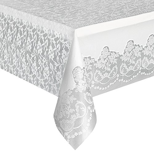 off Tischdecke, 9ft x 4.5ft (Kunststoff-spitze Tischdecken)