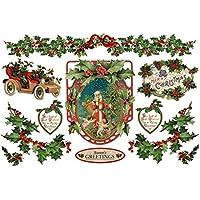 Stamperia CARTA DI RISO Stamperia Buon Natale Agrifoglio 28gr/m2