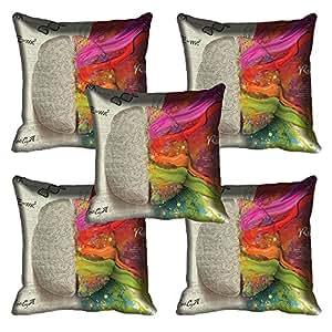 meSleep Nature Digitally Printed Cushion Cover - Set of 5