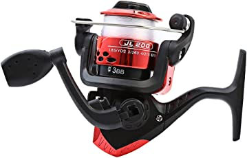 Zorbes JL200 Electroplating Fishing Spinning Reel Folding Arm 3-Ball Bearing 5.2/1 with Transparent Fishing Wire