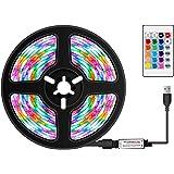 Tiras LED, VISLONE Luces LED RGB 5m con Control Remoto IR, 16 Colores y 4 Modos, Tiras de Luces LED para TV, Computadora, Sal