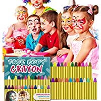 HENMI 28 Colors Face Paint Crayons, Non-toxic Safety, Body Painting Kit Makeup for Kids Easter/Halloween/Christmas/Makeup Cosplay, EN71 Certified