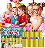 HENMI 28 Farben Face Paint Crayons, ungiftige Sicherheit, Body Painting Kit Makeup für Kinder Ostern / Halloween / Weihnachten / Makeup Cosplay, EN71 zertifiziert