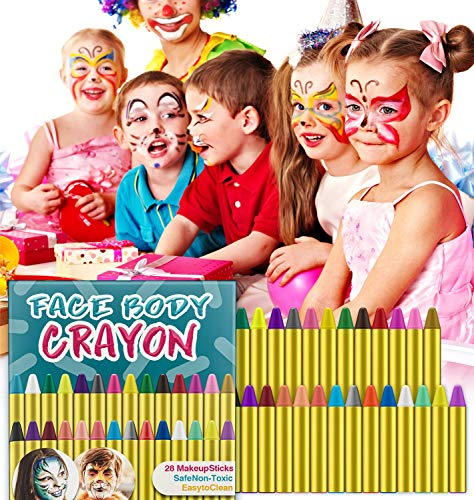Paint Crayons, ungiftige Sicherheit, Body Painting Kit Makeup für Kinder Ostern / Halloween / Weihnachten / Makeup Cosplay, EN71 zertifiziert ()