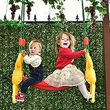 COSTWAY Kinderschaukel Schaukel Babyschaukel Doppelschaukel Schaukelsitz Babyschaukelsitz 2 Sitzer