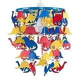MiniSun - Bunter und cooler Lampenschirm für Kinderzimmer mit roten, blauen und gelben Dinosauriern – für Hänge- und Pendelleuchte