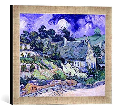 Gerahmtes Bild von Vincent van Gogh Thatched cottages at Cordeville, Auvers-sur-Oise, 1890