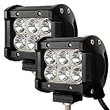 VINGO® 2X 18W LED Scheinwerfer Flutlicht Rückfahrscheinwerfer IP67 Wasserdicht Arbeitsscheinwerfer 12V 24V [Energieklasse A++]