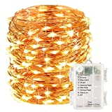 #7: Smart Home and Garden Battery Operated 10 M 100 LED Copper String Fairy Light with 8 Functions and Timer with Waterproof Battery Box, Warm White. Newly Launched Low Price.