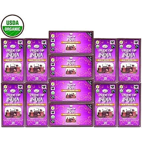 Pride Of India - Organic Slim & Detox Tea, 25 Count (6-Pack): BUY 1 GET 1 FREE (12 BOXES TOTAL)