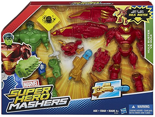 Hasbro B1916EU0 - Marvel Super Hero Mashers Iron Man MK44 vs Hulk Pack