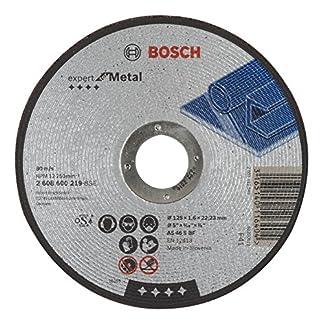Bosch 2 608 600 219 – Disco de corte recto Expert for Metal – AS 46 S BF, 125 mm, 1,6 mm (pack de 1)