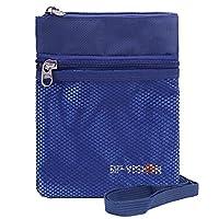 EGOGO Portadocumentos de Cuello Cartera de Viaje Cuello Monedero, Cuello bolsa del cuello con Tecnología RFID para Viajar con Total Seguridad para Mujeres, Hombres y Niños E306-1 (Azul)