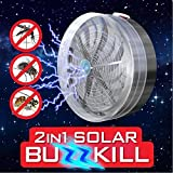 A2Z Home Solutions New Solar Powered Buzz UV Lamp Light Fly Insect Bug