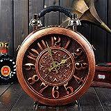 Songlin@yuan Moda Diagonal Bandolera PU multifunción Ajustable Personalidad Ronda Reloj de Alarma Bolsa de artesanía Bolso Calle Bolso marrón (Color : Brown)