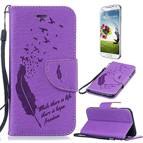 samsung-galaxy-a5-2016-wallet-flip-case-sunroyal-colorful-drawing-art-painted-feather-pattern-pu-lea