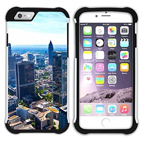 Graphic4You Frankfurt Deutschland Postkarte Aussicht Hart + Weiche Kratzfeste Hülle Case Schale Tasche Schutzhülle für Apple iPhone 6 Plus / 6S Plus Design #9