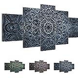 Cuadros de 200 x 100 cm - Cuadro de Mandala - Cuadro en lienzo no tejido - Imagen artística en lienzo para la pared - Impresión de arte – Imagen para la pared – Formato XXL –Más colores y tamaños en la tienda – ¡¡¡Totalmente estirados!!! ¡¡¡100 % FABRICADOS EN ALEMANIA!!! - Oriente – Abstracto - Universo 109451c