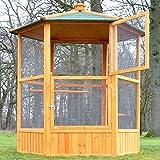 Zooprinz Volière Cage à Oiseaux en Bois de Haute qualité 6 Coins 160x123cm -Modèle ''Maxi 308 XXL''