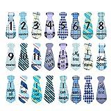 22 Pack Baby monatliche Krawatte Onesie Aufkleber monatlichen und Urlaub Meilenstein Aufkleber Krawatten