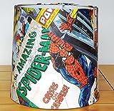 Marvel Comic Abat-jour Abat-jour Spiderman Hulk Iron Man Captain America 22,9cm plafond Pendentif abat-jour tambour Grand Avengers 22,9cm Diamètre par 22,9cm Long Double Usage